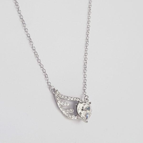 Angel Heart Wing Swarovski Necklace