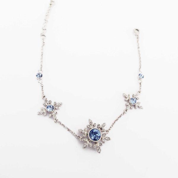 Blue Snowflake Swarovski Bracelet