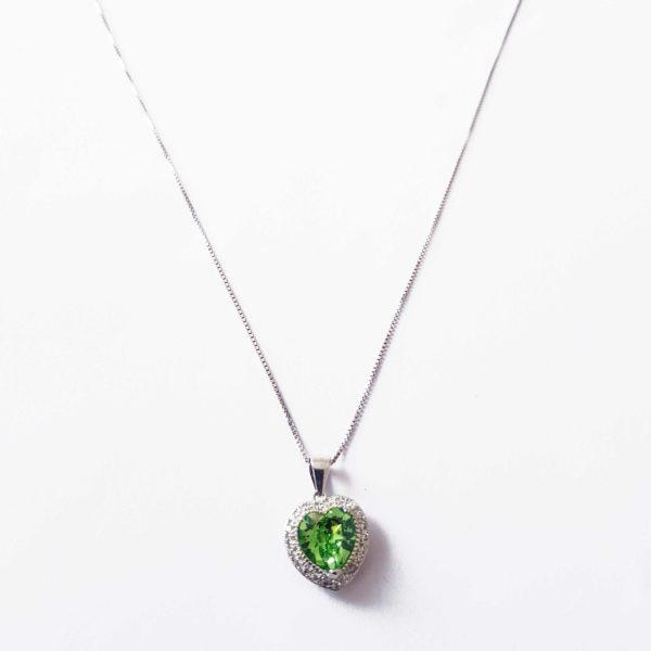 Green Heart Necklace Swarovski