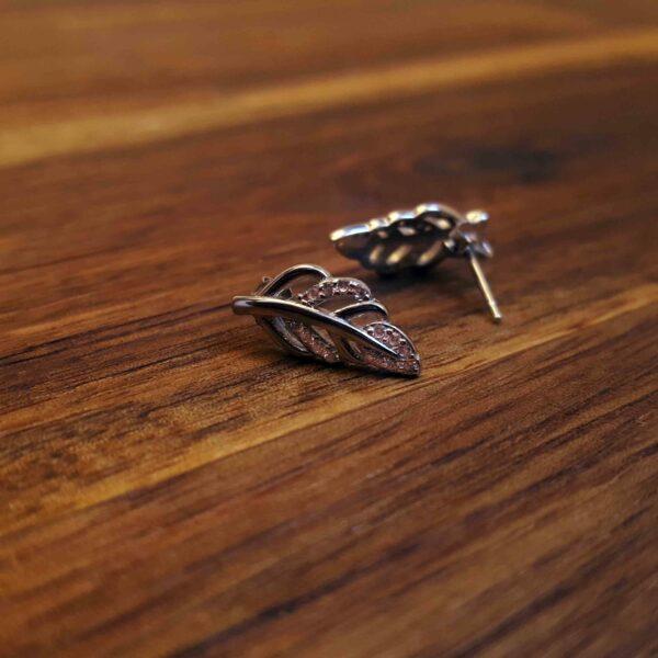Silver Leaf Stud Earring