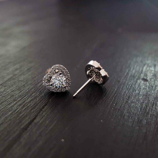 Silver Heart Stud Earring Swarovski