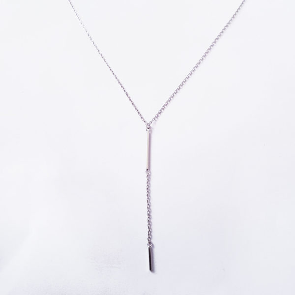 Simple-Bar-Necklace-Silver,-Sterling-Silve