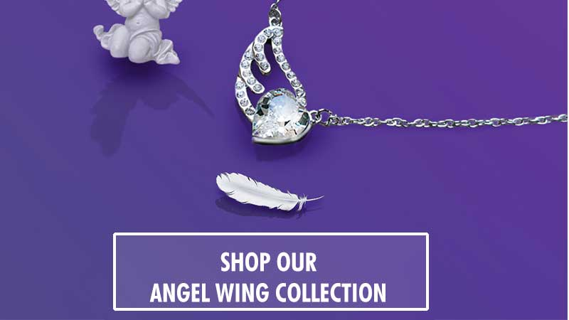 Angel wing collection shop button