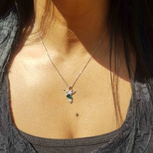 Green Bird Necklace Swarovski