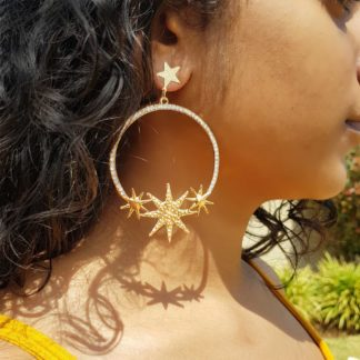 Gold-Star-Hoop-Earrings.thehouseofjd.com