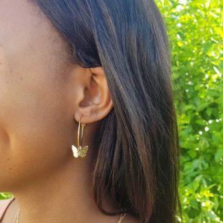 Gold-Butterfly-Hoop-Earrings - thehouseofjd