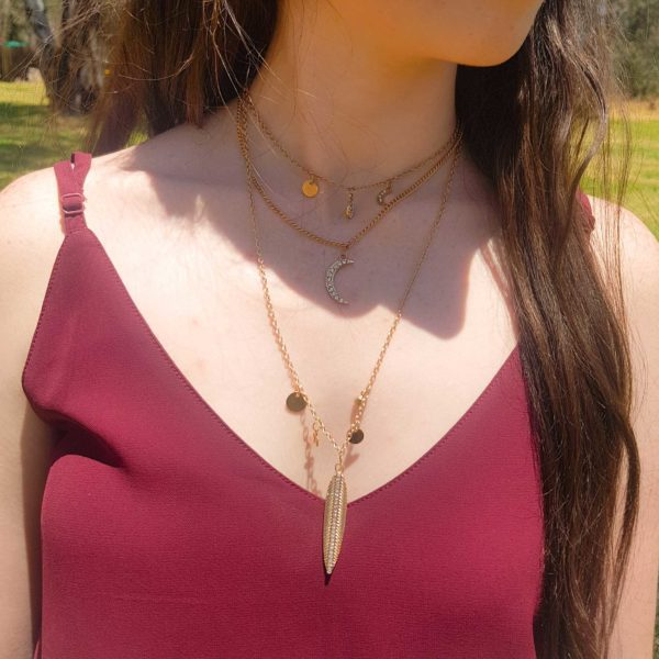 Layered-Disc-Charm-Necklace`thehouseofjd.com