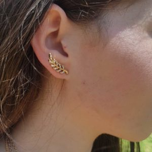 Leaf Ear Climbers Gold Earring