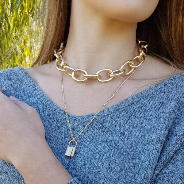Padlock Cable Chain Hip Hop Necklace