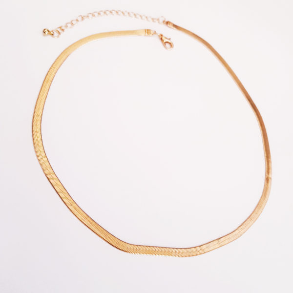 Herringbone Necklace In Gold Or Silver