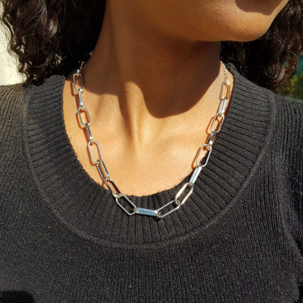 Paperclip Link Chain In Gold Or Silver